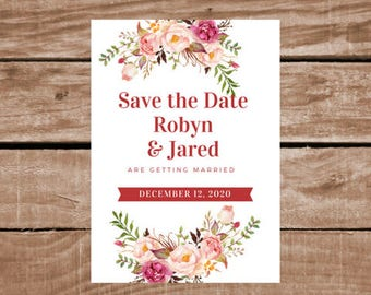 Save The Date - Customize-able Printable Invitation