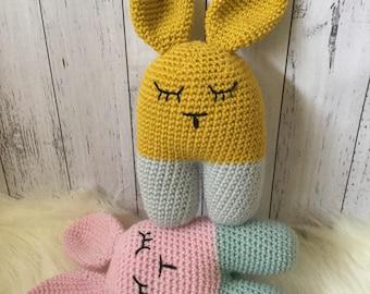 MADE TO ORDER - Crochet bunny, crochet rabbit, bunny, Amigurumi bunny, bunny comforter