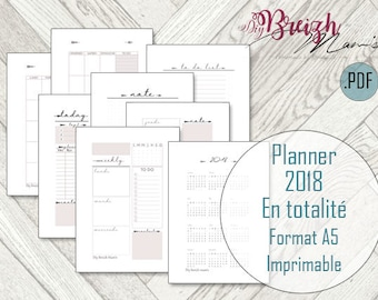 A5 Planner / / printable / / undated.