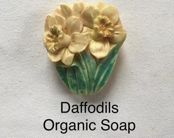 ORGANIC Soap — DAFFODIL Soap / Handmade Soap / Natural Soap / Decorative Soap / Artisanal Soap / Guest Soap / Soap Gift / Spring Soap