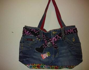 Custom handmade Jean purses