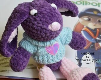 Crochet Bunny Eva Amigurumi toy Plush bunny Newborn gift