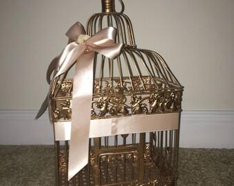 Wedding Card Box Rose Gold and Blush