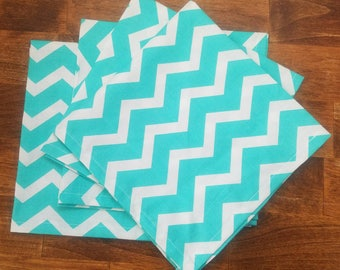 Chevron napkins. Cotton napkins. Washable napkins. Washable cotton napkins. Table setting. Reusable napkins. Solid cloth napkins.