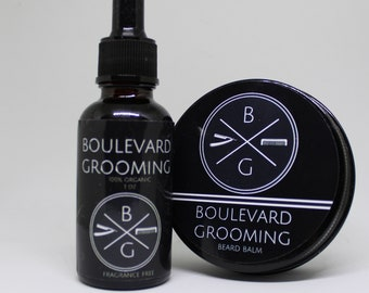 Beard Oil (FRAGRANCE FREE) and Beard Wax Bundle