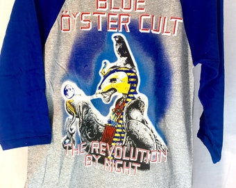 Vintage concert tee (long sleeve) BLUE OYSTER CULT, North American tour 83-84. New open box, mint condition, vintage clothes, concert tee