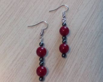 Rustic Red Earrings