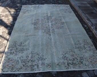 oversize turkish rug, bohemian rug, eclectic rug, Free Shipping 6 x 9.4 ft. rustic rug, largesize anatolian rug, hall rug, floor rug MB312