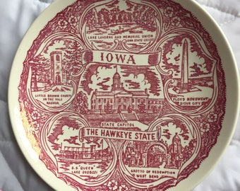 Iowa collector's plate
