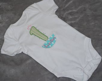 "embroidered ""1st birthday"" baby bodysuit with a personalised name"