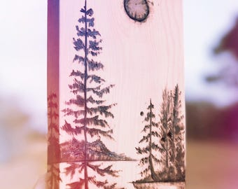custom woodburnings