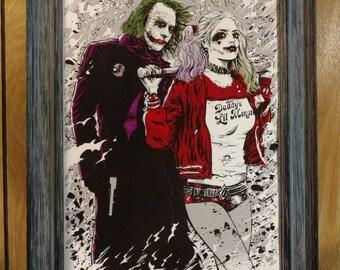 Joker and Harley-Quinn Print: Burn