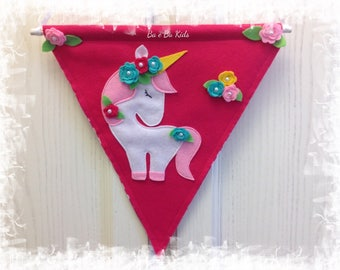 Bunting Unicorn Banner