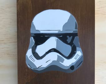 Storm Trooper Star Wars painting on wood