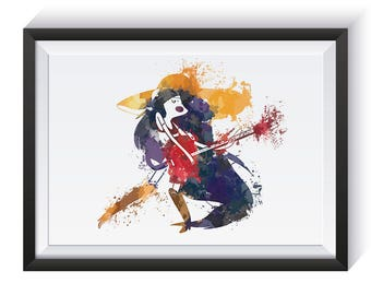 Marceline // Adventure Time // Watercolour Art Poster Print // Original // Giclee // Fan Art //More options available