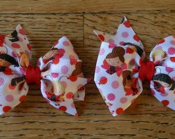 Ladybug Valentines Bow Set