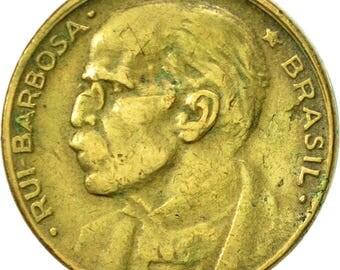 brazil 20 centavos 1950 ef(40-45) aluminum-bronze km562