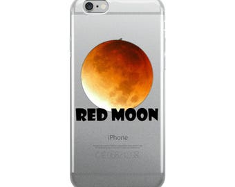 iPhone Case red moon