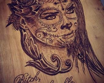 "Pyrography art - ""Humble"""