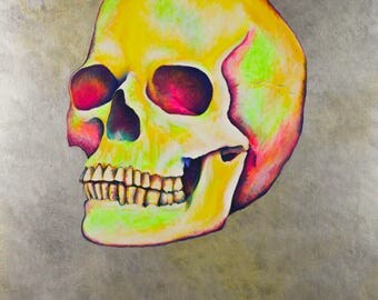 Skull acrylic painting
