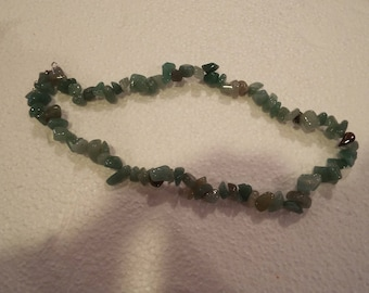 Aventurine Gemstone Chip Necklace