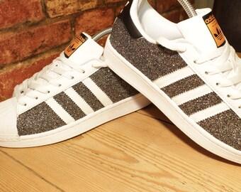 Adidas Superstar All Black Glitter