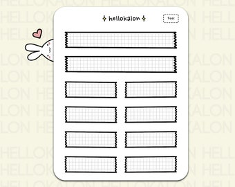 tape-style header stickers, label stickers, bullet journal stickers, functional planner stickers, erin condren (f001)