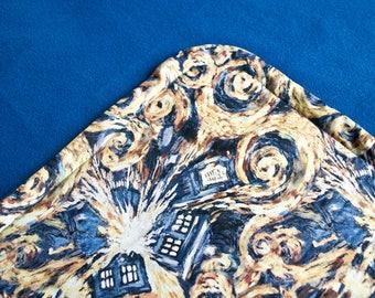 Exploding Tardis Blanket / Doctor Who Blanket / Tardis Blanket / Nerd Gift / Fleece Blanket / Double Sided Blanket