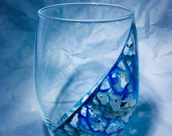 Stemless Wine Glass Set - Ocean Side