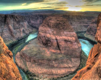 Horseshoe Bend Canvas Photo