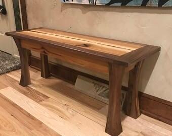 Walnut and Hickory Bench