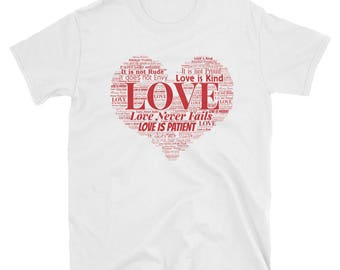 Love is Patient Love is Kind Valentine Love T-shirt