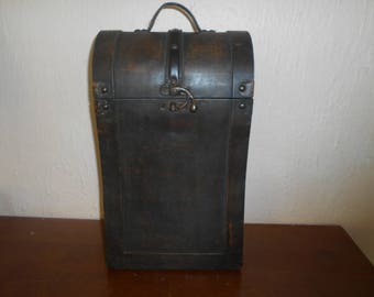 very old traspet wooden case