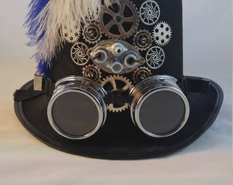 Tea Party: Steampunk Top Hat with Goggles