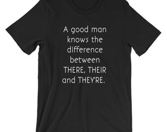 Grammar Police Flirty Nerd Date Tee T-shirt Tshirt Funny There, their, they're