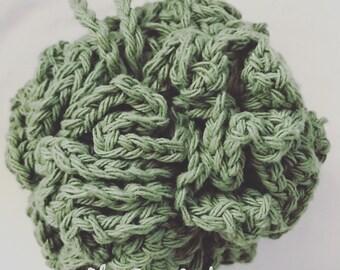 Large Crochet Bath Pouf