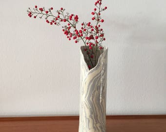 Ceramic Vase - Blue Ebb and Flow Vase