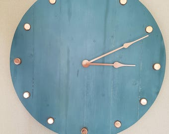 Large hand-crafted wall clock.