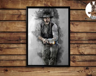 Josh Faraday print The Magnificent Seven wall art home decor poster