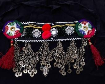 afghan tribal gypsy headdress-903