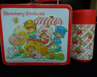 Vintage Strawberry Shortcake Lunch Box and Thermos/Aladdin 1981