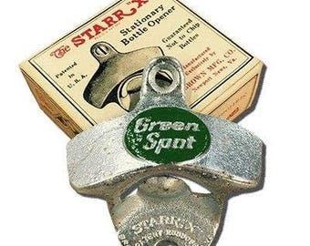 Vintage Green Spot Soda Wall Mount Bottle Opener Starr X Advertising
