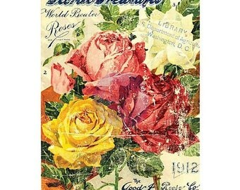 "PRESIDENTS DAY SALE Prima Marketing Decor Transfer Rub-On 24""X34"" Floral Treasures"