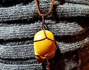 Ozark Tumbled Stone Rock Pendant Necklace Essential Oil Diffuser Lava Bead