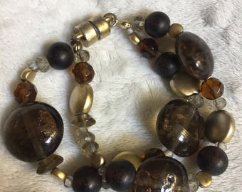 Brown and bronze bracelet