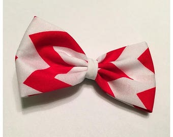 Valentine's Day Hairbow, Christmas Hairbow, Large Red Chevron Hairbow, Hairbow, Red Hairbow, Chevron Hairbow, Bows, Bowtie, SozBows