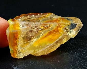 89.55 Unheated & Natural Orange Opal Rough Stone