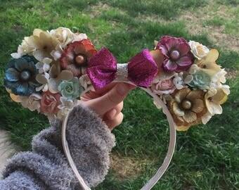Vintage Floral Disney Ears