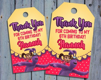 Kate and Mim Mim Birthday Thank You Tags, Kate Mim-Mim Book Favor Tag, Kate Mimmim Printable Digital Labels, Goody Bag Tags, Hang Label Tags