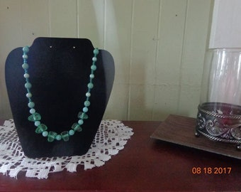 Mint Green Pearl Necklace
